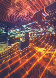 Digital Artwork Inspired by Tron Movies – Fubiz Media