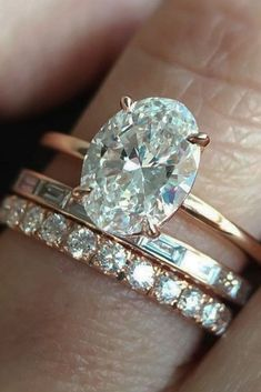 Oval Engagement Rings That Every Girl Dreams See more: #nails #jewelryrings #DazzlingDiamondEngagementRings