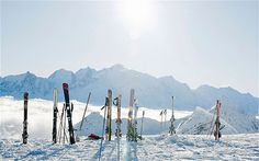 Flaine may not be particularly high, but its proximity to Mont Blanc makes for great snow