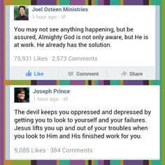 Joel osteen Joseph Prince