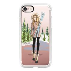 Ski Girl (Fashion Illustration Phone Case) - iPhone 7 Case, iPhone 7... (155 ILS) ❤ liked on Polyvore featuring accessories, tech accessories, iphone case, apple iphone case, iphone cases, iphone hard case and iphone cover case