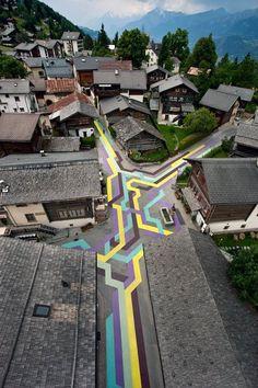 #streetart flooring pattern cud be labyrinth