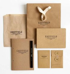 Hovard Design - what about giving out notepads on recycled brown paper? Just a thought ...