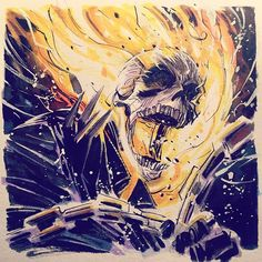 GHOST RIDER BY Mike Henderson VENGEANCE!!! #Marvel #GhostRider