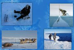 Mi grimorio escolar: OFICIO DE LOS ESQUIMALES Polo Norte, Primitive Survival, Crafts, Animals, Outdoor, Winter Craft, Winter Time, Prehistory, Scenery