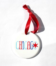 Hostess Gift Holiday Chicago Ornament, $11
