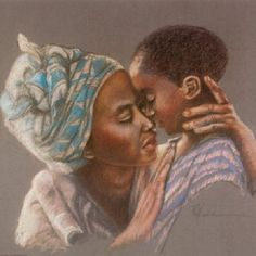 pictures of a mothers love for her son Mother Art, Mother And Child, African Art Paintings, Haitian Art, Art Antique, Black Love Art, Black Mother, Black Artwork, Black Families