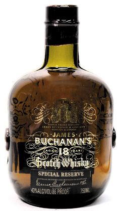 Buchanan's whisky from Scotland - 'the water of life'! I still do not get this in santiago Cigars And Whiskey, Scotch Whiskey, Bourbon Whiskey, Alcohol Bottles, Liquor Bottles, Wine And Liquor, Wine And Beer, Rum Bottle, Whiskey Bottle