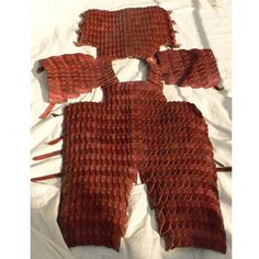 Lamellar armour from genuine leather
