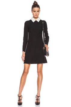 Valentino Crepe Couture Sheath Dress in Black...I so need this!