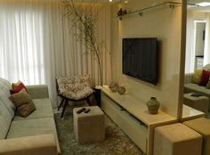 Decoração de sala pequena, confira dicas e inspirações para você ter boas ideias na hora de decorar esse ambiente da sua casa com muito bom gosto.