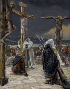 The Death of Jesus, Illustration for 'The Life of Christ', by James Jacques Joseph Tissot Art Print on Canvas Magnolia Box Size: Extra Large Religious Pictures, Bible Pictures, Jesus Pictures, Catholic Art, Religious Art, Catholic Prayers, Roman Catholic, Religion Catolica, Jesus Painting