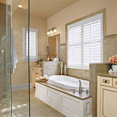 Love the window above the tub, love the tub surround