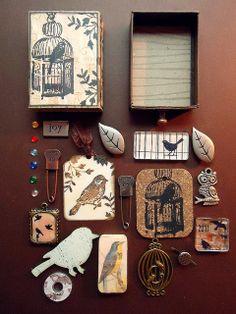 Private Bird Themed Swap Matchbox by iGirlZoe, via Flickr