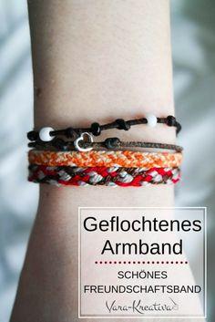 Geflochtenes Armband, Freundschaftsarmband Anleitung, DIY Schmuck, Armband flechten Vara-Kreativa