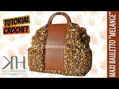 "Tutorial uncinetto maxi bauletto ""Mèlange"" | Crochet bag || Katy Handmade - YouTube"
