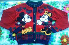 Mickey and Minnie Cardigan by lishyloo on Etsy, $10.00