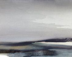 Abstract aquarel landschap grote landschap / eigentijds