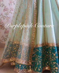 Ideas For Bridal Lehenga Color Combinations Mint Green Raw Silk Lehenga, Red Lehenga, Bridal Lehenga, Banarasi Lehenga, Sabyasachi, Wedding Dresses For Girls, Indian Wedding Outfits, Party Wear Dresses, Sikh Wedding