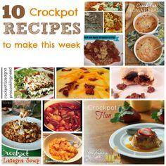 10 Crockpot Recipes to Make This Week Slow Cooker Recepies, Slow Cooker Freezer Meals, Slow Cooker Chili, Crock Pot Slow Cooker, Crock Pot Cooking, Cream Biscuits, Lasagna Soup, Crockpot Ideas, Crock Pot Soup