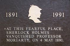 Plaque at Reichenbach Falls