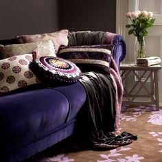 Luxuriöses Sofa im Wohnzimmer Wohnideen Living Ideas Interiors Decoration