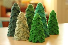 Christmas Trees - definitely going to make these for Christmas 2013 :-)