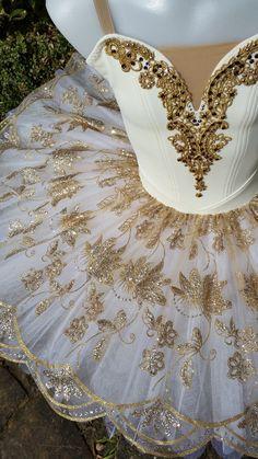 Cream & Bronze Gold Sparkle Classical Ballet Tutu Koz I Love Tutus https://www.facebook.com/KozILoveTutus/