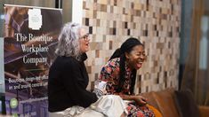 Laughs with Kate Watson-Smyth and Busola Evans at the Interior Trends 2018 talk at The Boutique Workplace Company #rockettstgeorge #interior #interiors #trends #talk #london #company #trend #home #homeware #house #inspiration