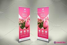 Flower Shop Roll Up Banner - v053. Flyer Templates. $2.00