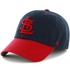 St. Louis Cardinals '47 Brand Cooperstown Collection Franchise Fitted Hat – Navy Blue/Red