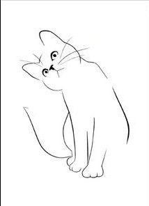 Custom Cat Portrait One Line Drawing Minimal Cat Line Art Line Drawing, Drawing Sketches, Painting & Drawing, Drawing Ideas, Cute Cat Drawing, Cat Silhouette Tattoos, Cat Tattoo Designs, Easy Drawings, Animal Drawings