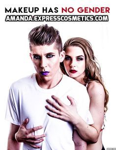 MAKEUP HAS NO GENDER. We welcome everyone to join Express Cosmetics.  Contact me for more details www.amanda.expresscosmetics.com  #makeuphasnogender #expresscosmetics #wewelcomeall #LoveYourself #ExpressYourself #BeYourself