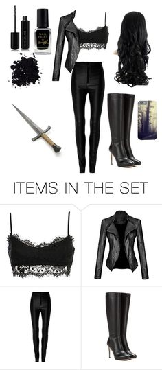 """""""black."""" by onesuponatime ❤ liked on Polyvore featuring art"""
