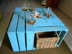 Multi-Purpose Pallet Crate Coffee Table | 99 Pallets