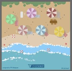 Beach , kuta bali , holiday , flatdesign , vector , project , graphicdesign