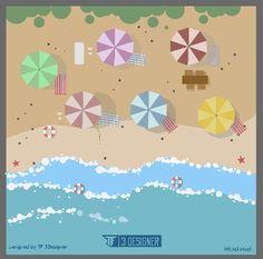 Beach , kuta bali , holiday , flatdesign , vector , project , graphicdesign