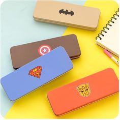 4 conceptions Superman série papeterie fer de l'école crayon boîte stylos crayon cas pour les étudiants fournitures scolaires livraison gratuite 0031 dans Boîtes à crayon de Fournitures de bureau et scolaire sur AliExpress.com   Alibaba Group