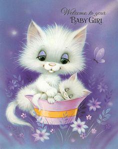 ❤️VINTAGE BABY GIRL CARD 1979