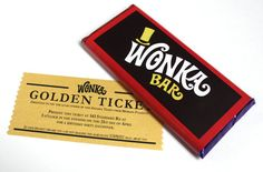 Personalized Golden Ticket Invitation with candy bar labels--this would be my birthday invitation!
