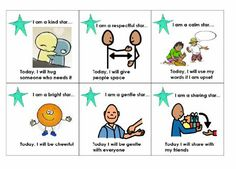 "Cute and helpful! This mini poster takes the Conscious Discipline idea of ""Be a S.T.A.R."" and gives concrete ways to ""star"" throughout the day in other ways. Add your own desired categories! #iheartcd"