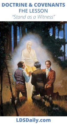 Doctrine and Covenants FHE Lesson - Stand as a Witness | LDS Daily Fhe Lessons, Doctrine And Covenants, Family Home Evening, Book Of Mormon, Holy Ghost, The Covenant, Read Aloud, Lds, Teaching Kids