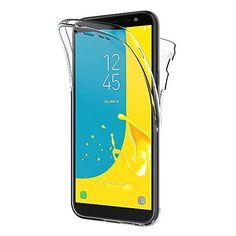 AICEK Coque Samsung Galaxy J6 2018 360Full Body Transparente Silicone Coque  pour Samsung J6 2018 Housse 709df6eab33a
