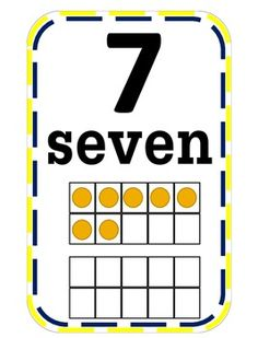 This packet includes number cards that feature the numeral, number word, and a ten frame visual of the number. This can be posted in the classroom as a reference for students or in a center.Check out Number Line 1st Grade Math, Kindergarten Math, Number Words, Number Lines, Educational Activities, Anchor Charts, Classroom Organization, Teacher Pay Teachers, Numbers