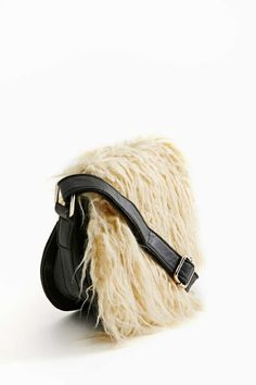 Nasty Gal Stevie Faux Shearling Bag