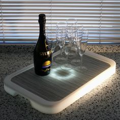 Imagilights LED Tron Rectangular Serving Tray