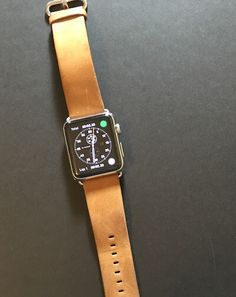 best third-party Apple Watch bands-brown-suede