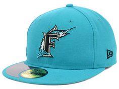 MLB Florida Marlins New Era 59Fifty Teal Colored Hat