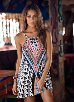 c73dd6348452e PilyQ Swim and Resort 2016 Patterned Mini Dresses, Pilyq, Short Dresses,  Casual Dresses
