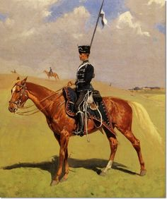 Image detail for -Frederic Remington - The Hussar by Frederic Remington | Painting